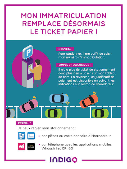 L'immatriculation remplace le ticket papier