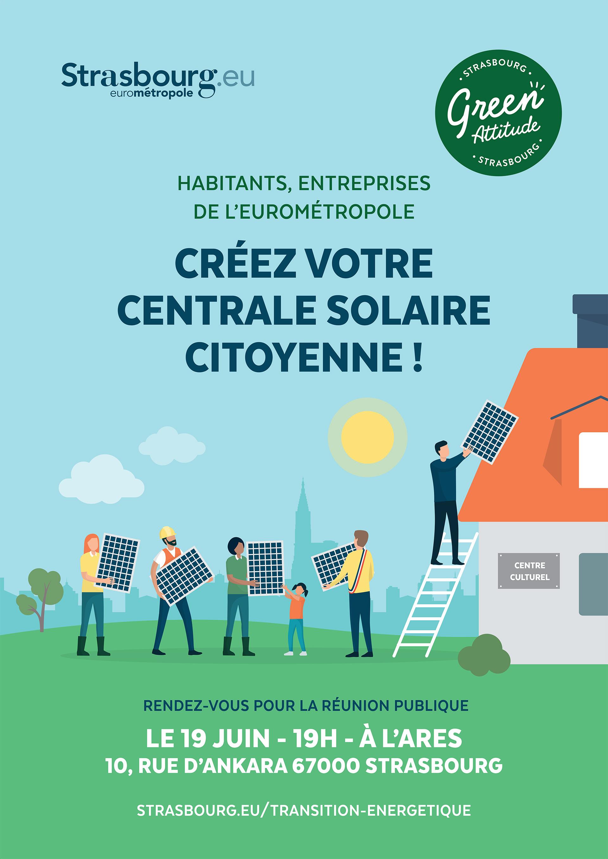 Affiches pour les centrales solaires citoyennes
